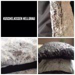PelzIm Hellgrau Kuschelkissen Huxus