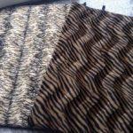 Tiger beige + braun Kuschelmatte Huxus